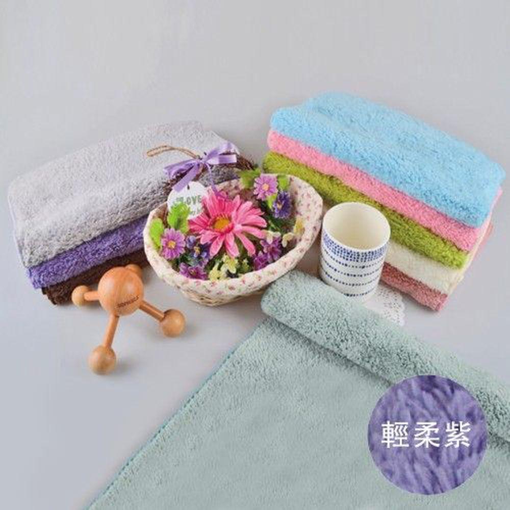 貝柔 Peilou - 超強十倍吸水超細纖維抗菌潔膚巾3入組合-輕柔紫 (30x75cm)