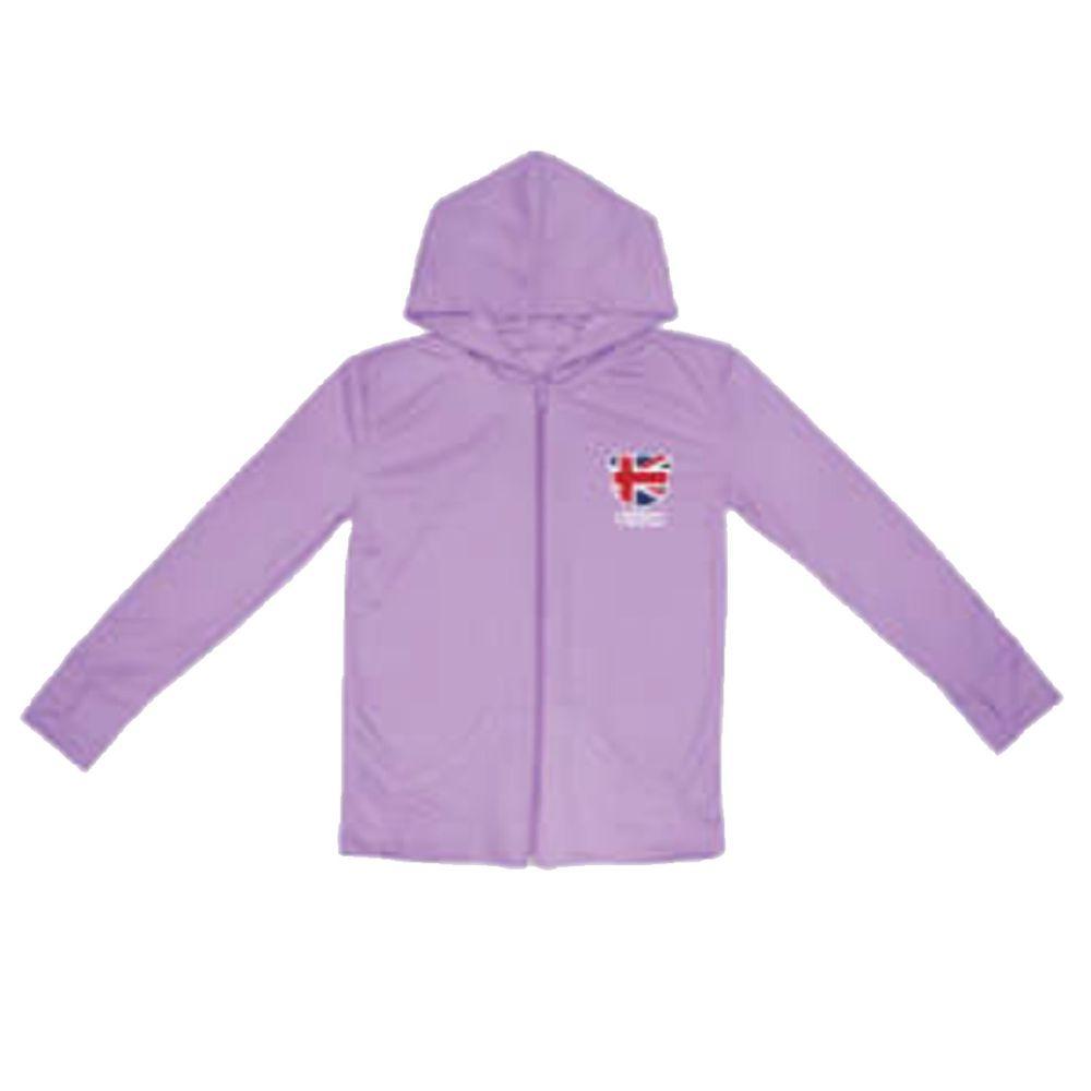 貝柔 Peilou - 3M高透氣抗UV防曬連帽外套_兒童-丁香紫