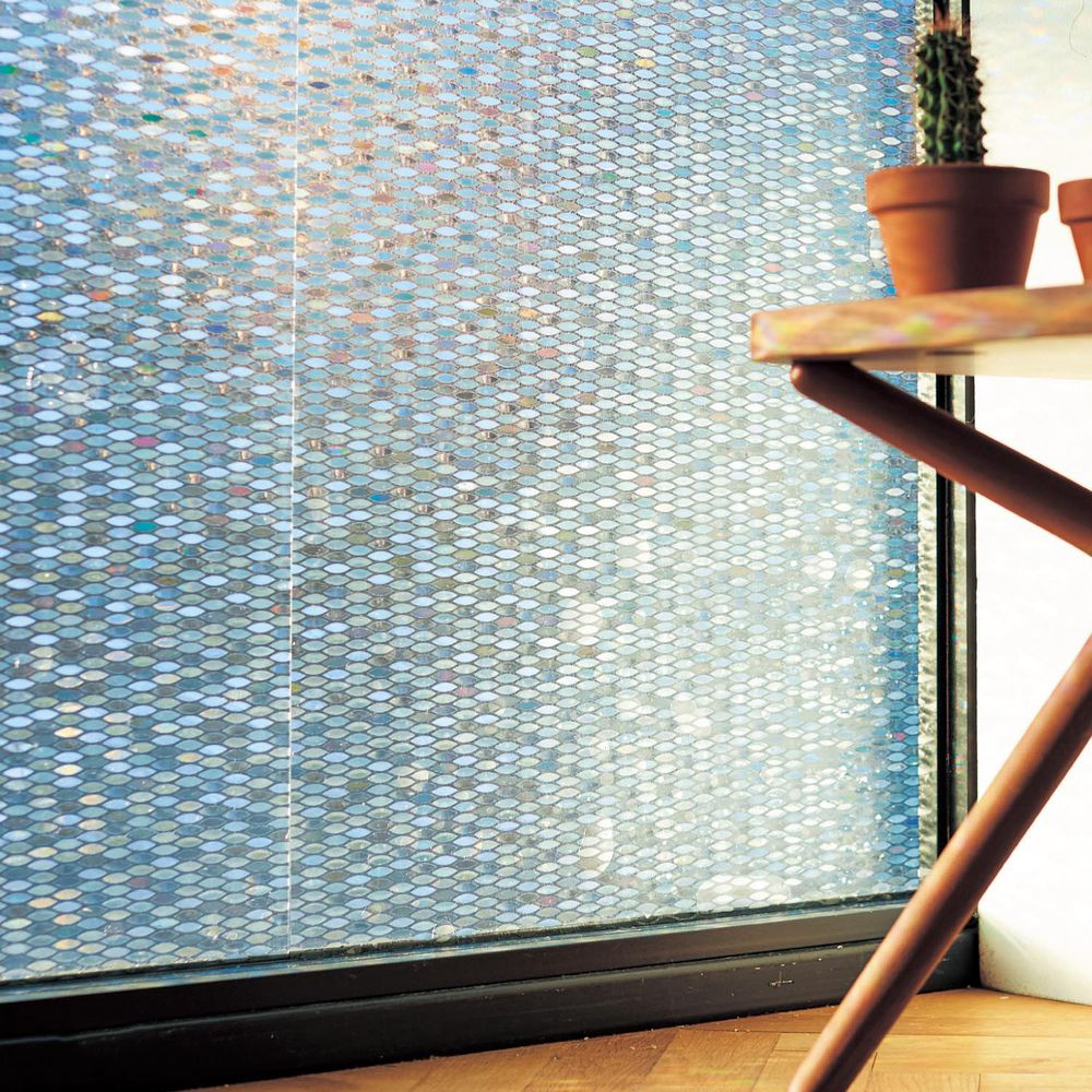 日本千趣會 - 日本製 99%抗UV光影窗貼(靜電式)-幾何葉子