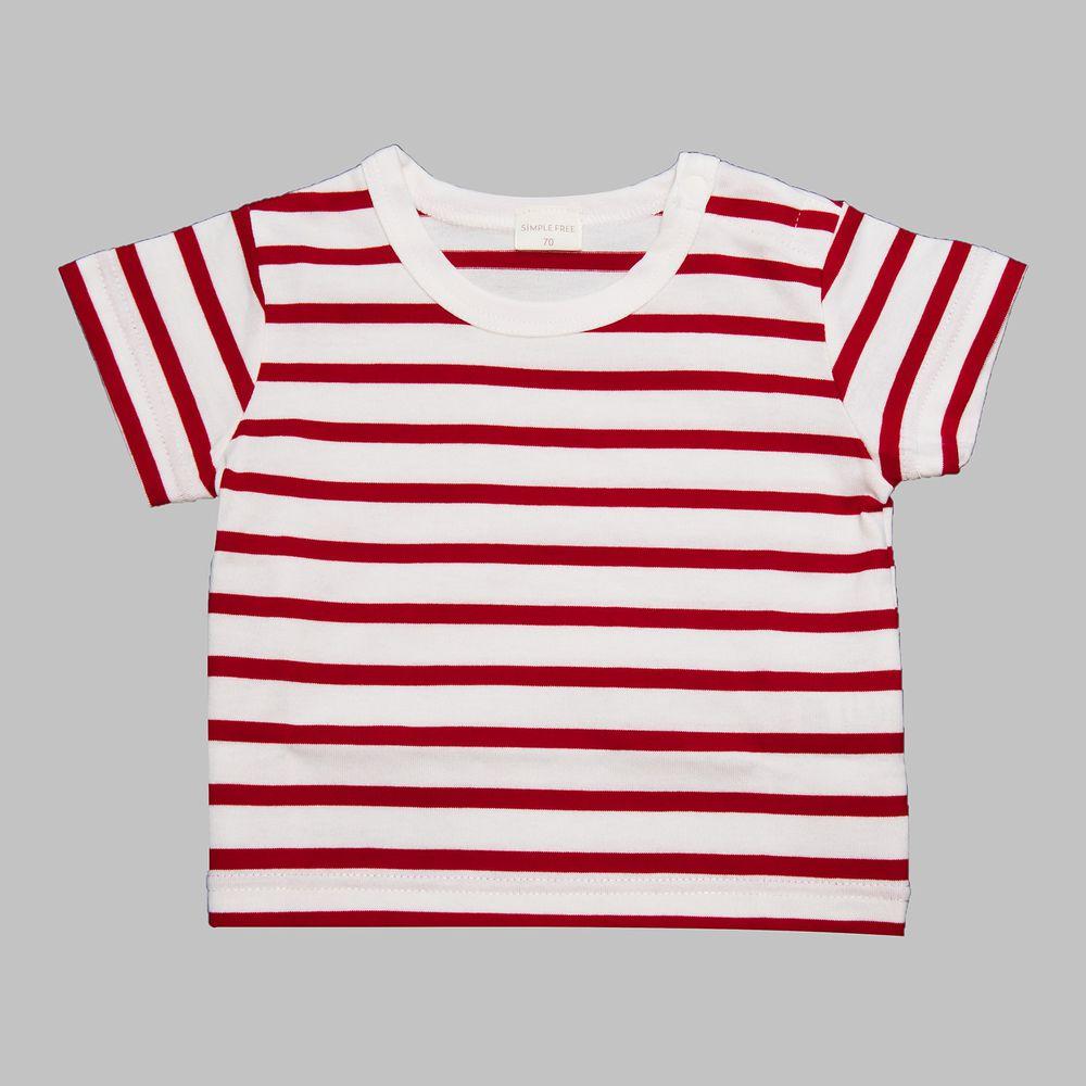 akachan honpo - 短袖基本款T恤-紅色