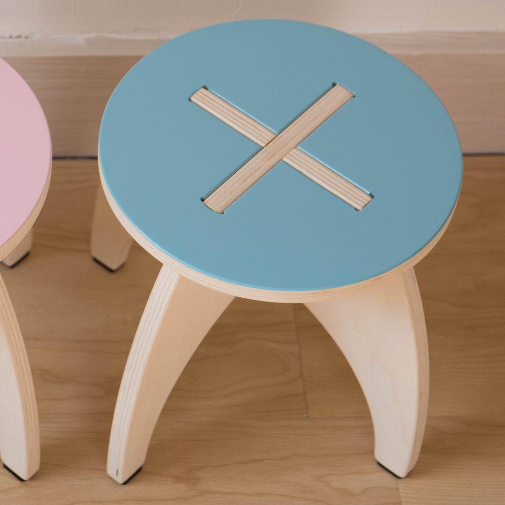 HELLO MONKEY - 兒童椅凳-粉藍
