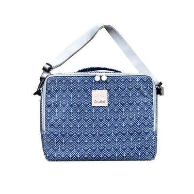 防水保溫保冷野餐袋-閃耀藍波紋 (270*210*90mm)