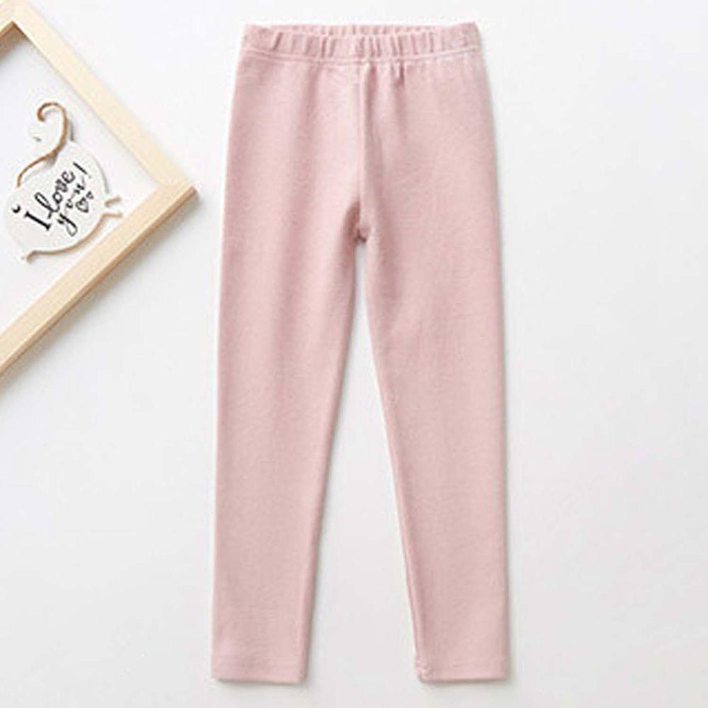 日本 TORIDORY - 舒適質感素色內搭褲-粉