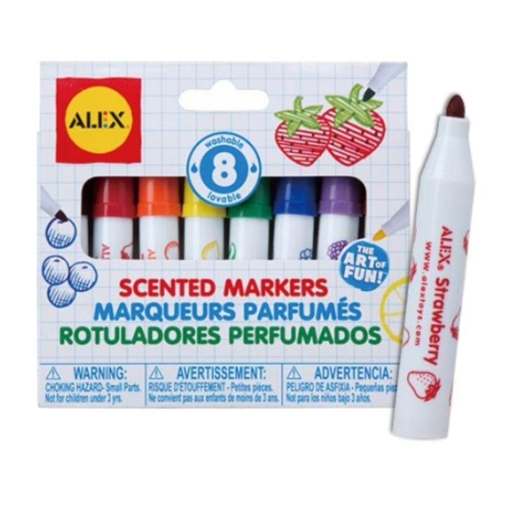 美國 ALEX - 水果香味彩色筆(8色)