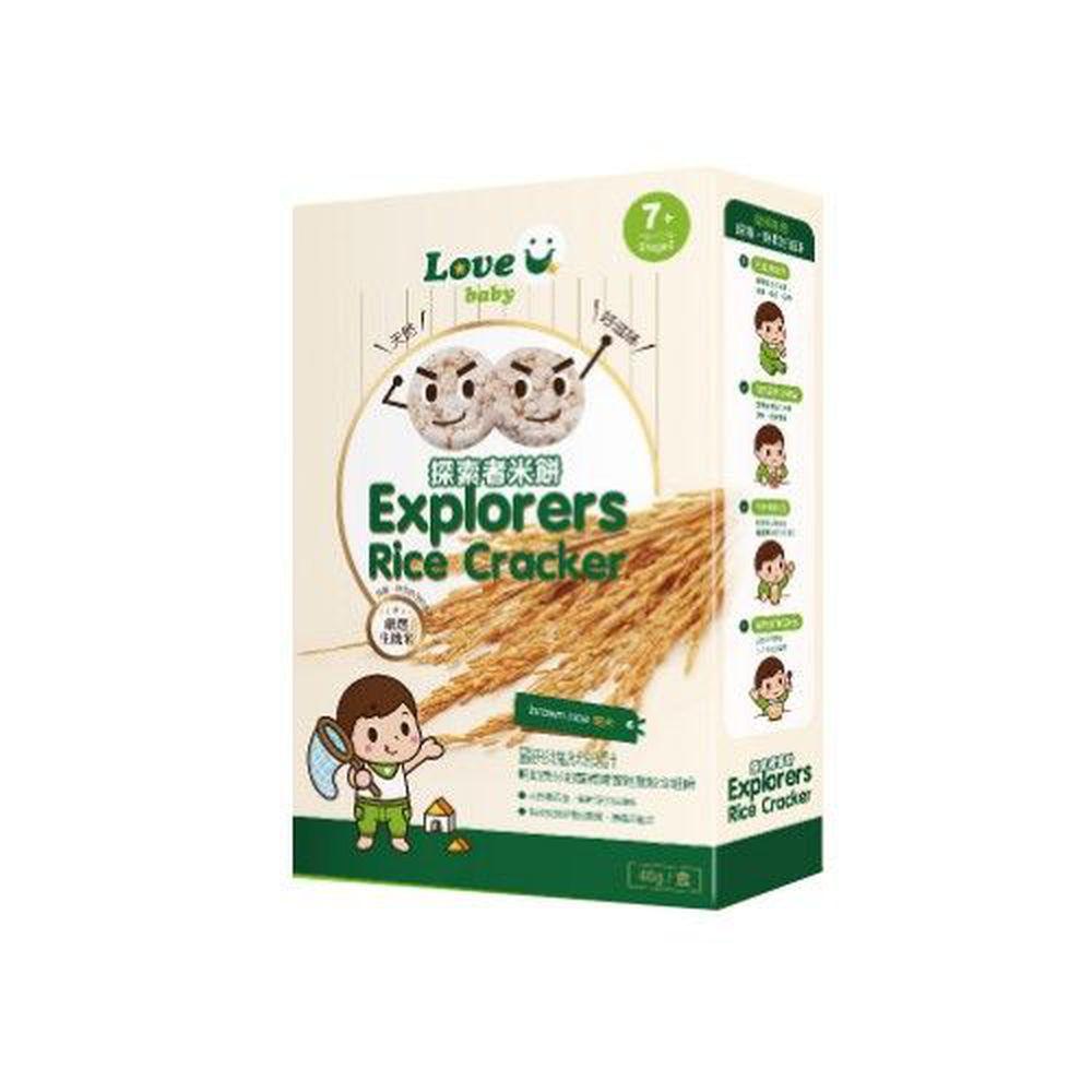 米大師 - 探索者米餅-糙米口味-淨重40公克/盒