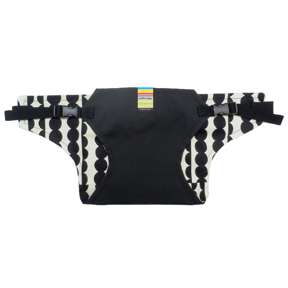 akachan honpo - 幼兒椅子固定帶-圓點-黑色-1個
