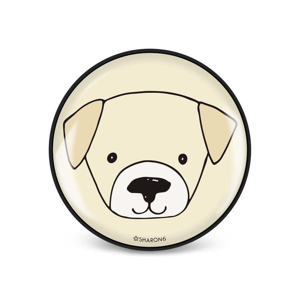 韓國 SHARON6 - 手機氣囊支架-黑色款-狗狗