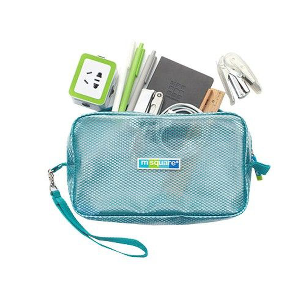 m square - 商旅系列Ⅱ-防水毛巾包-湖水藍