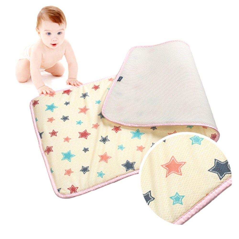 韓國 GIO Pillow - 超透氣排汗嬰兒床墊-香草星星 (M號)