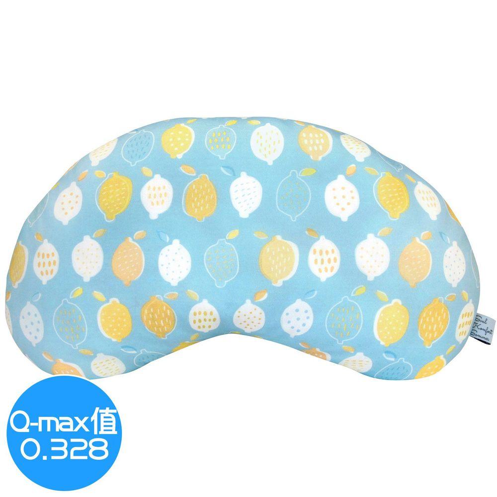 日本 DAIKAI - 接觸涼感豌豆枕/午睡枕/枕頭-檸檬-藍黃 (45x25cm)