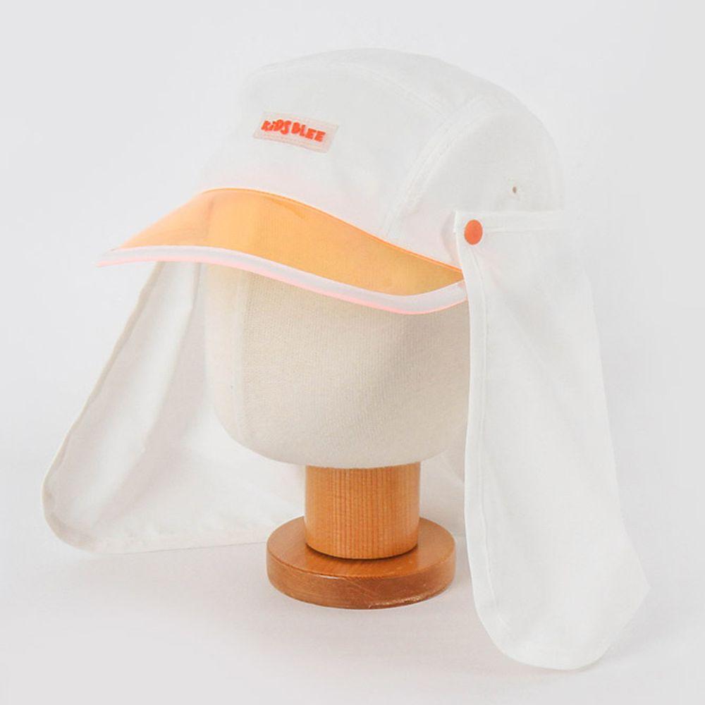 韓國 Babyblee - 抗UV遮陽板可拆式防曬帽-白