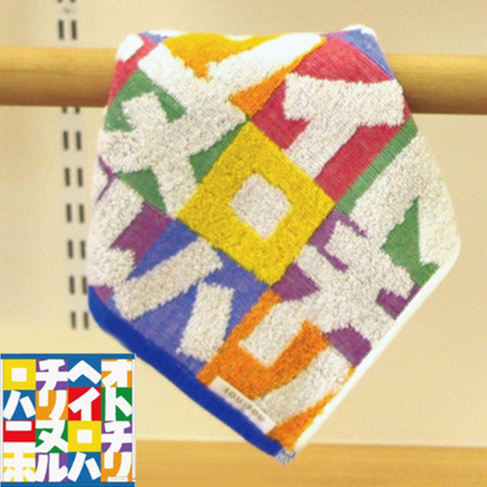 日本代購 - 【SOU·SOU】日本製今治純棉方巾-片假名 (25x25cm)