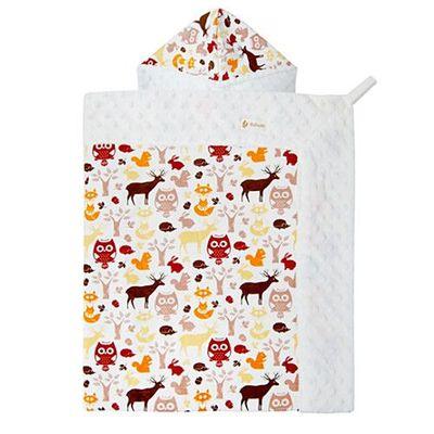 雪花背巾蓋毯-森林貓頭鷹