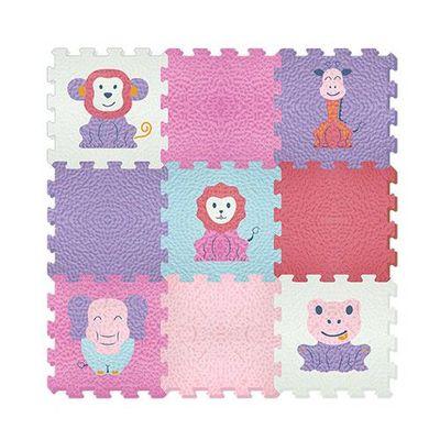 動物學習拼接墊-可愛動物(B) (30x30cm)-9片/組(顏色隨機)