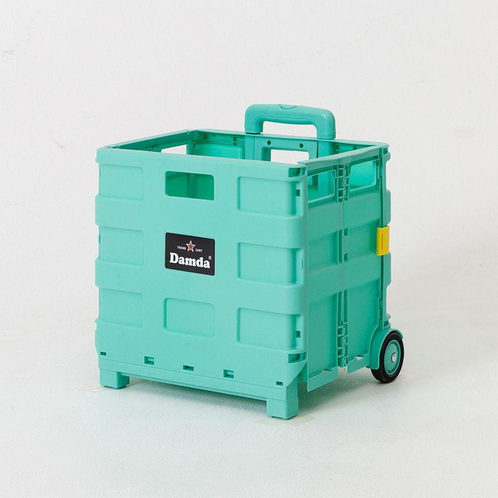 韓國 Damda - 折疊收納手拉車-小-薄荷綠-尺寸:38X30cm, 容量37L