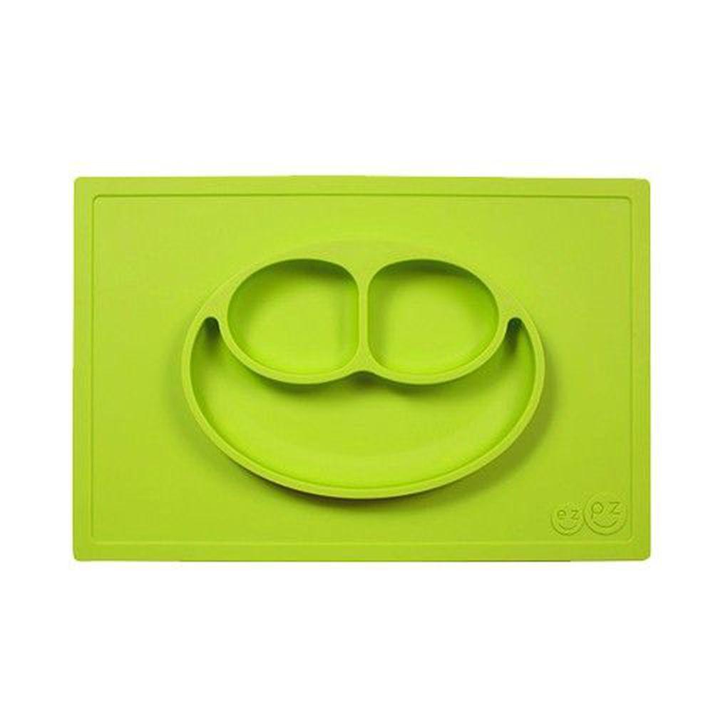 美國 ezpz - 快樂餐盤 Happy Mat-餐盤-蘋果綠 (38cm*25cm*2.54cm)-420ml