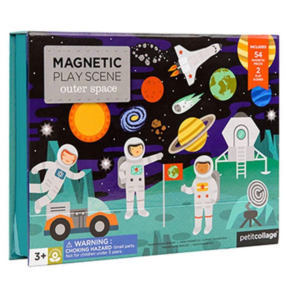 美國 Petit Collage - 磁鐵場景遊戲盒-太空冒險