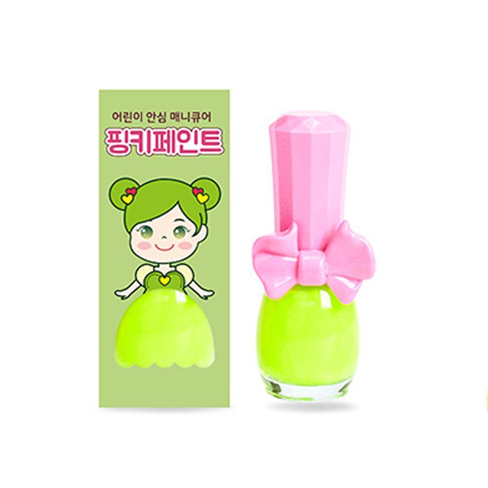 韓國 Pink Princess - 可撕式無毒指甲油-青檸汽水(螢光色系)