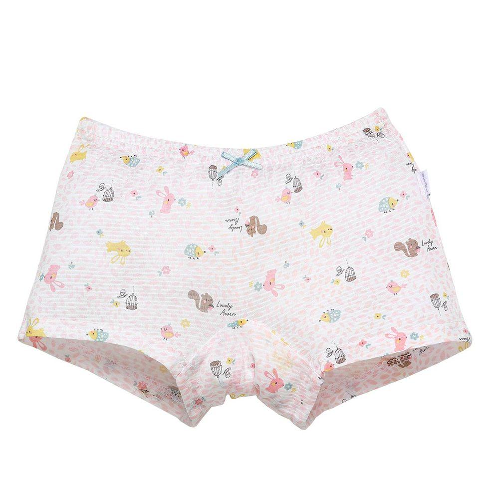 韓國 Ppippilong - 速乾透氣cool四角褲(女寶)-粉嫩動物