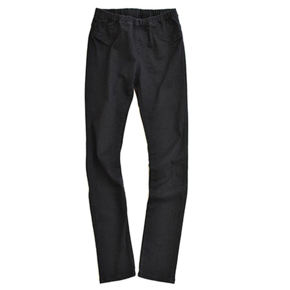 日本 zootie - 顯瘦美腿 個性丹寧窄管牛仔褲-黑