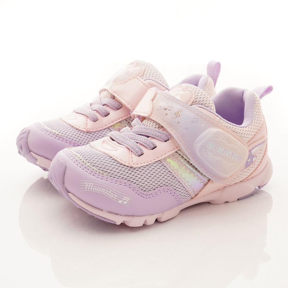 Moonstar日本月星 - 機能童鞋-LED電燈運動款(中小童段)-粉
