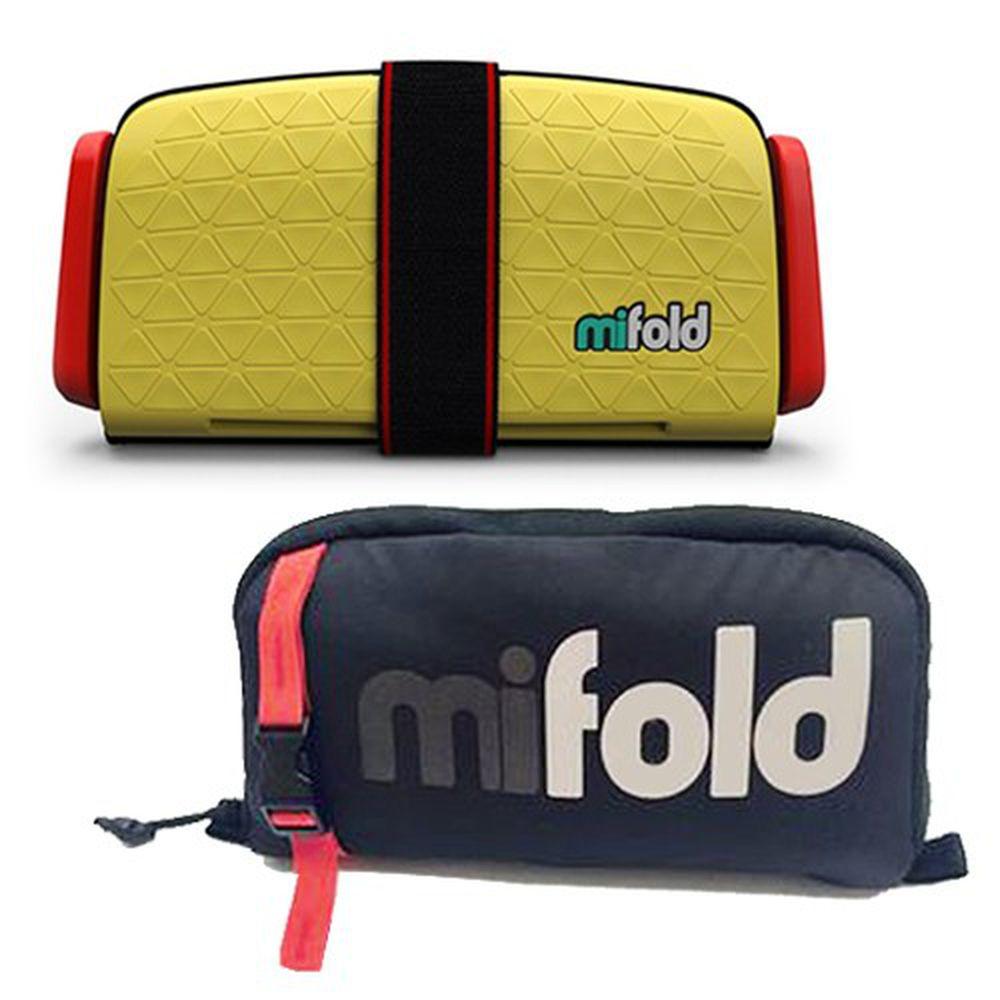 美國 mifold - 隨身安全座椅-新款-黃色/Yellow-超值優惠好康組 (隨身安全座椅x1+專用收納袋x1)