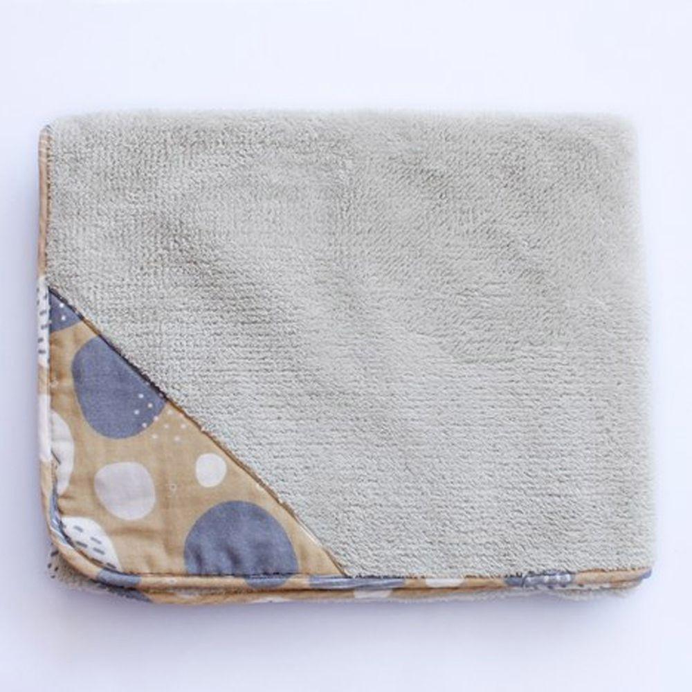 minihope美好的親子生活 - 雲一樣的澎澎毯/浴巾/披毯/蓋毯-淺灰 (75x120cm)