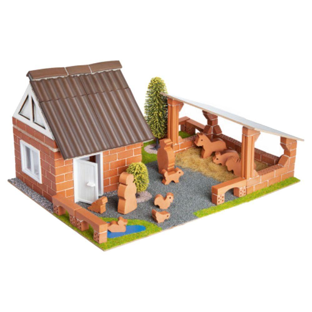 德國 teifoc - 【最後現貨】益智磚塊建築玩具-造型農場-TEI4600