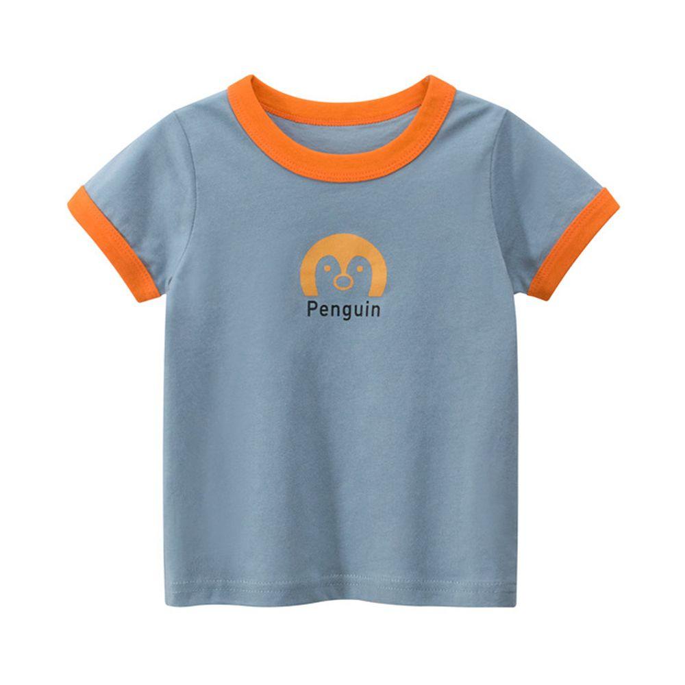 純棉短袖上衣-Penguin企鵝-藍色
