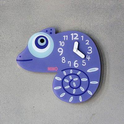 韓國NINO HapPy TimE童趣時鐘-變色龍Pascal (28*25.5cm)
