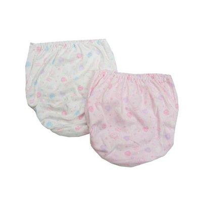 日本製 100%棉質女孩內褲_兩件組-夢幻兔兔愛心