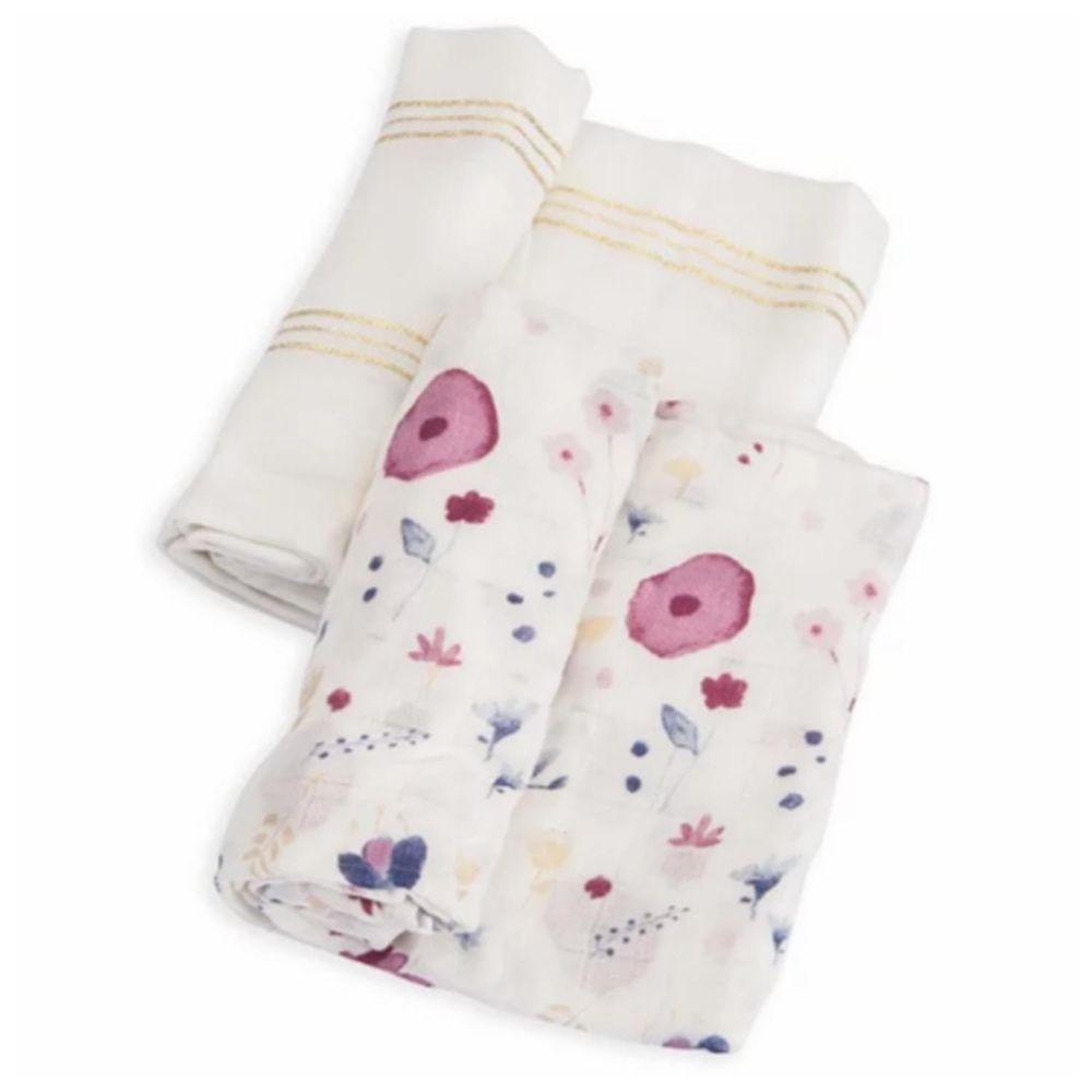 美國 Little Unicorn - 竹纖維紗布巾兩入組-精靈花園