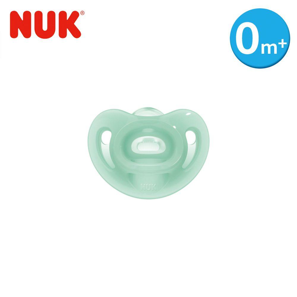 德國 NUK - SENSITIVE全矽膠安撫奶嘴-1號初生型0m+-綠