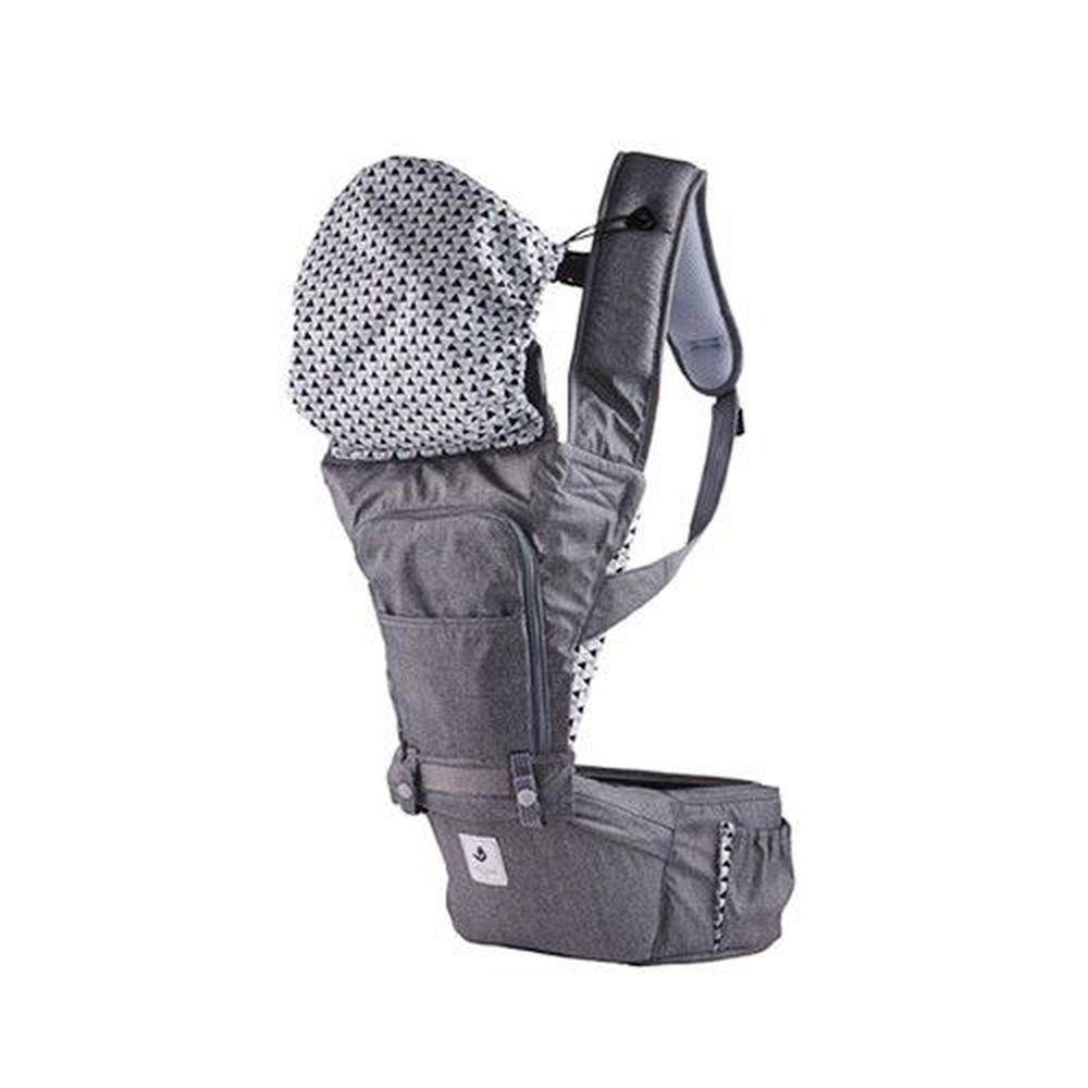 韓國 POGNAE - NO.5 超輕量機能坐墊型背巾-東京灰