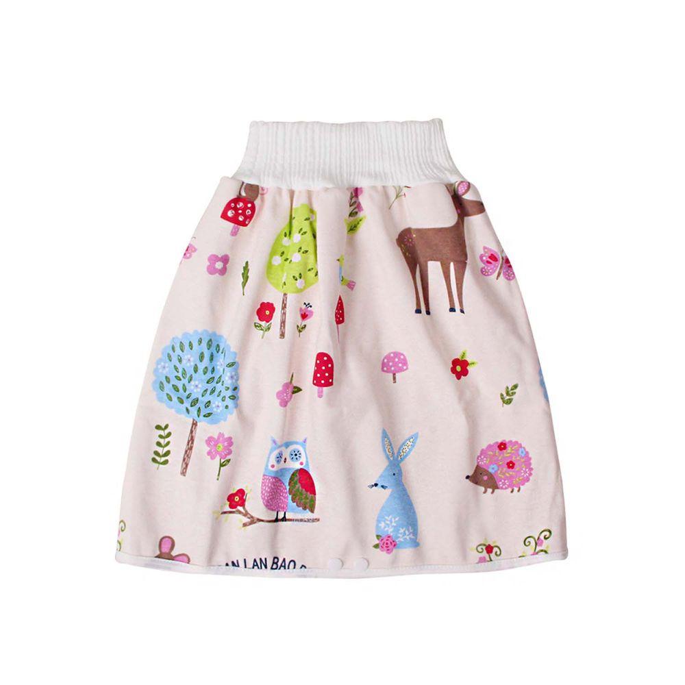 高腰護肚隔尿裙-粉色小鹿