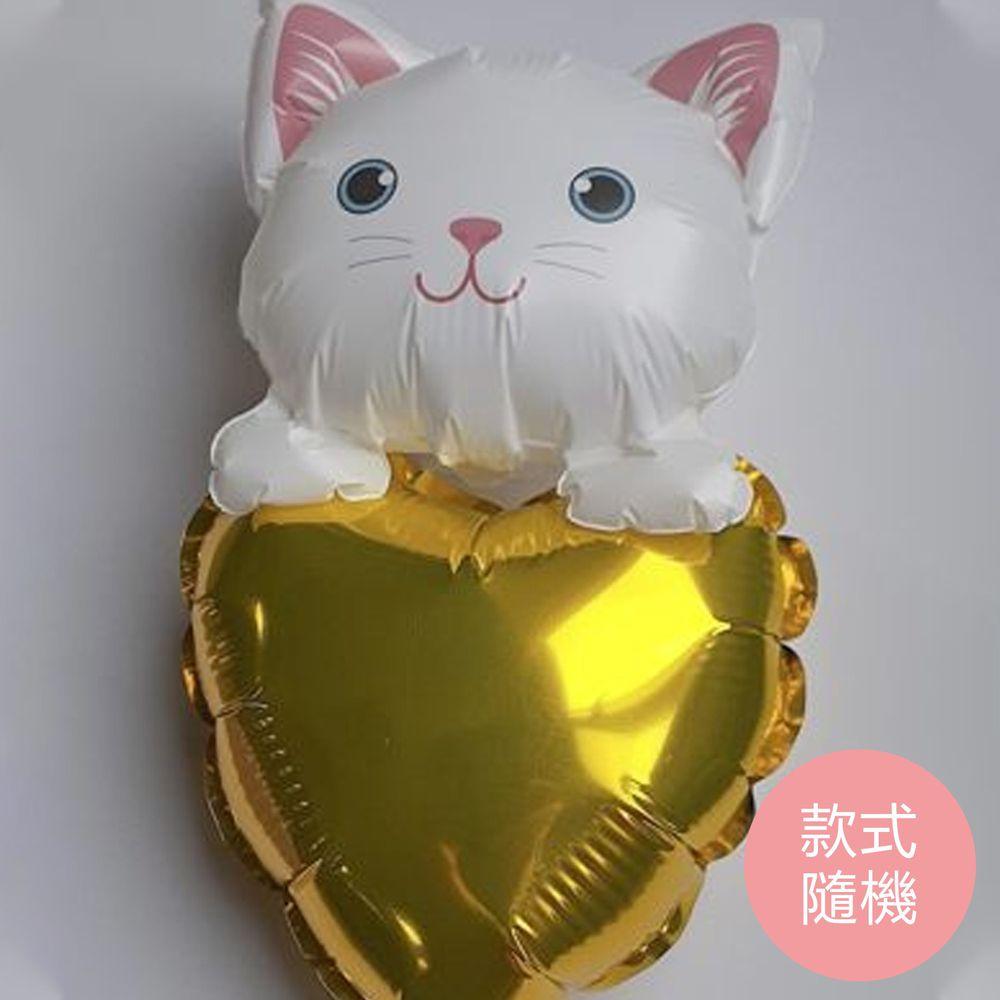 大倫氣球 - 迷你貓+自動充氣氣球組-9款隨機-迷你貓PE球一顆,自動充氣氣球1顆