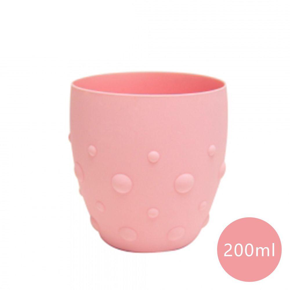 MARCUS&MARCUS - 動物樂園矽膠防滑學習杯-粉色-200ml