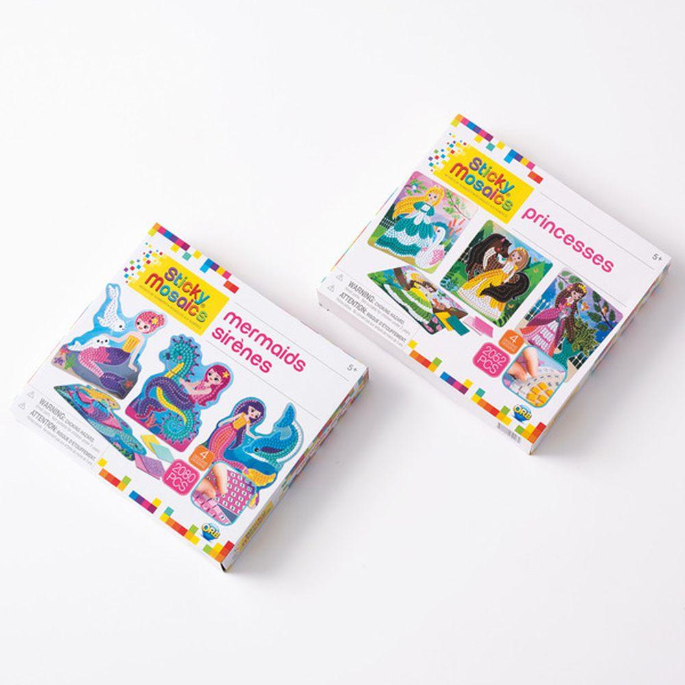 加拿大 Sticky Mosaics - 馬賽克拼貼組-女童-公主郊遊趣+美人魚