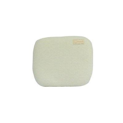 有機棉嬰兒護頭型乳膠枕-經典條紋系列-自然綠 (29x25x5cm)-3~4個月以內