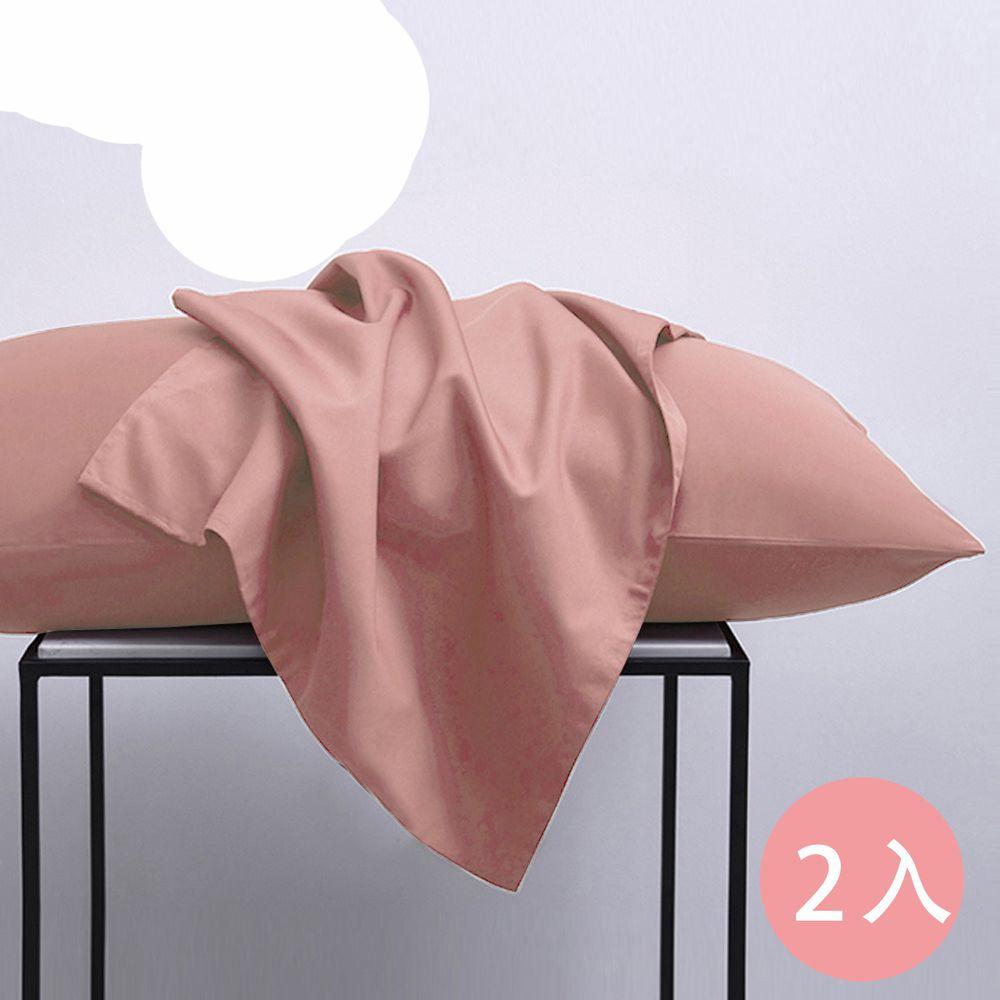 澳洲 Simple Living - 300織台灣製純棉美式信封枕套-奶茶棕-二入