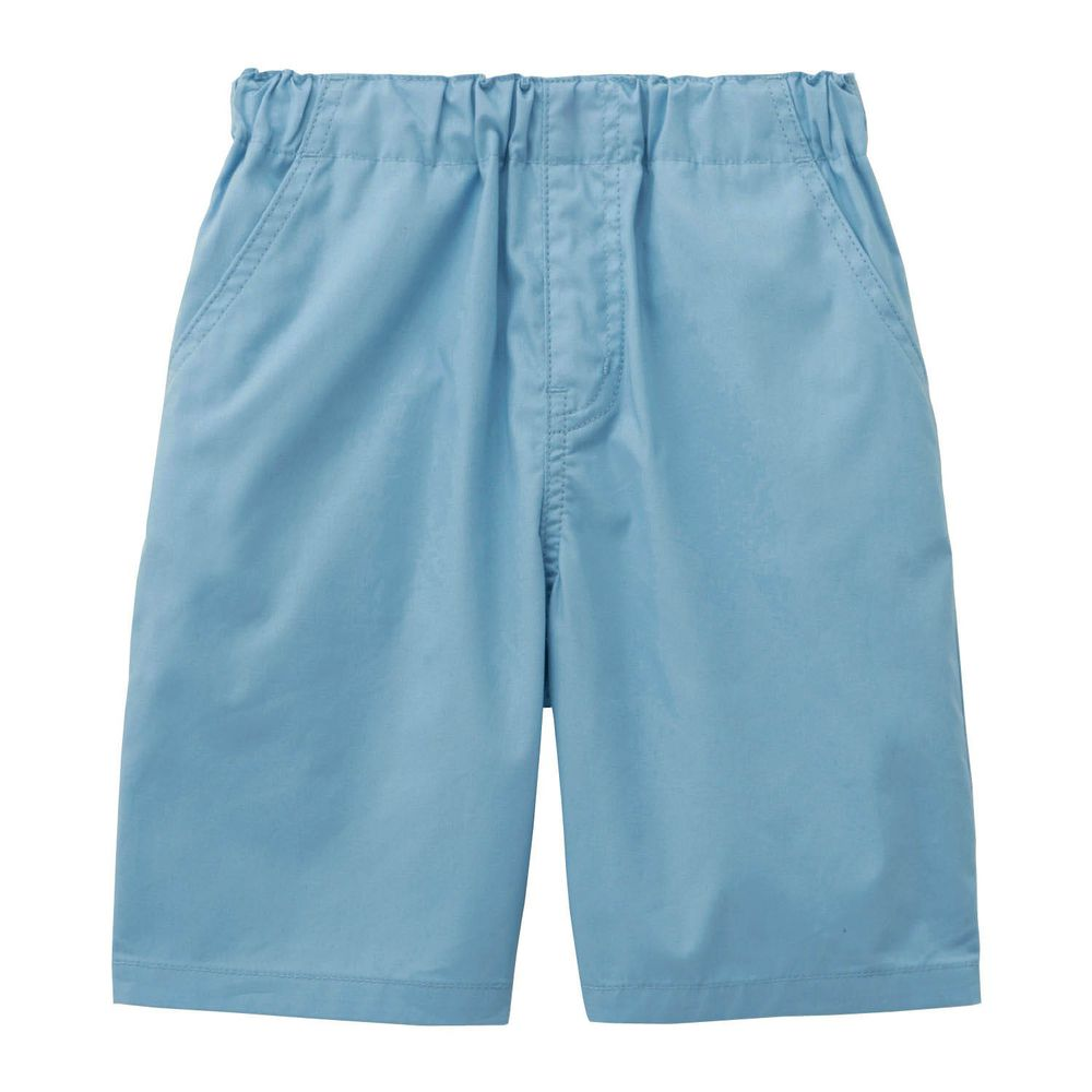 日本千趣會 - GITA 純棉接觸冷感五分褲-水藍