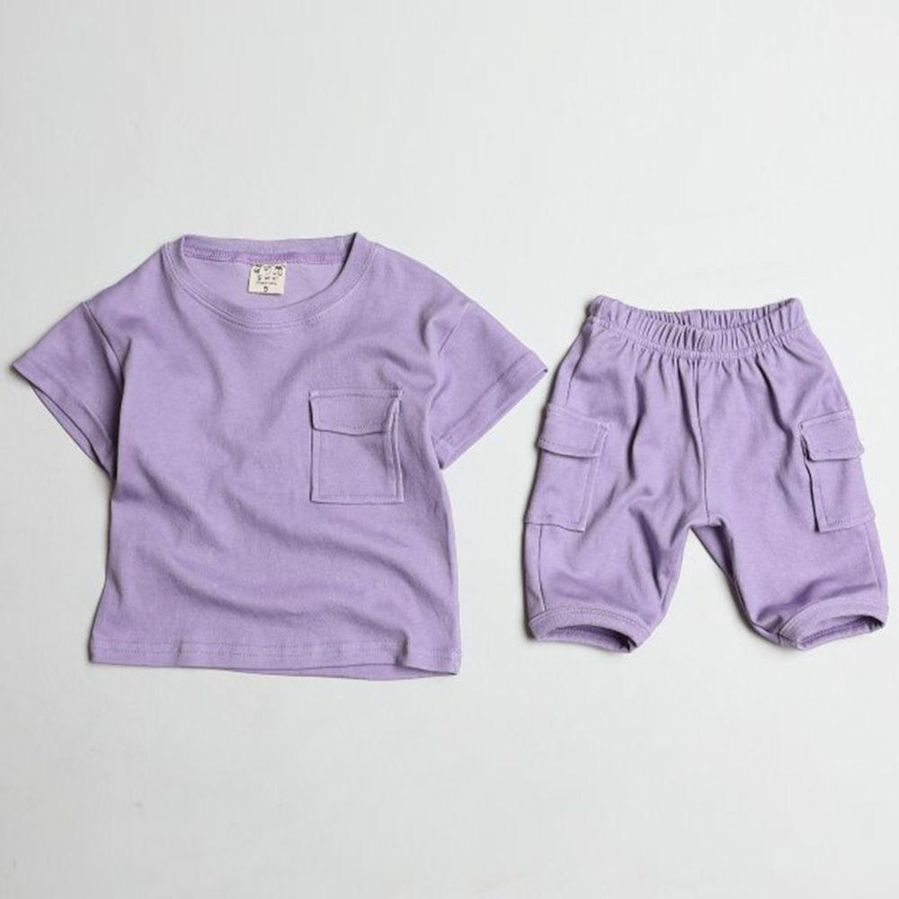 韓國製 - 天絲棉混紡套裝-紫