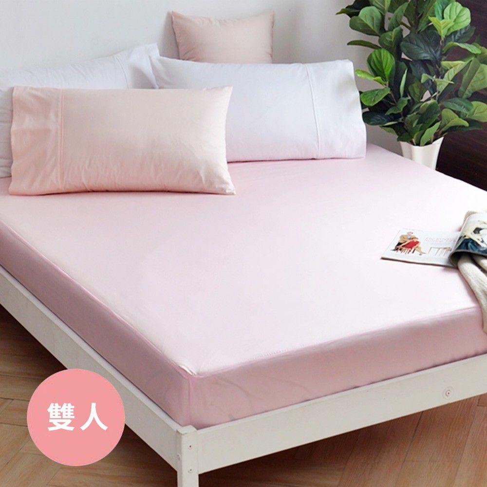 澳洲 Simple Living - (絕版品出清)300織純棉防水透氣床包-櫻花粉-雙人
