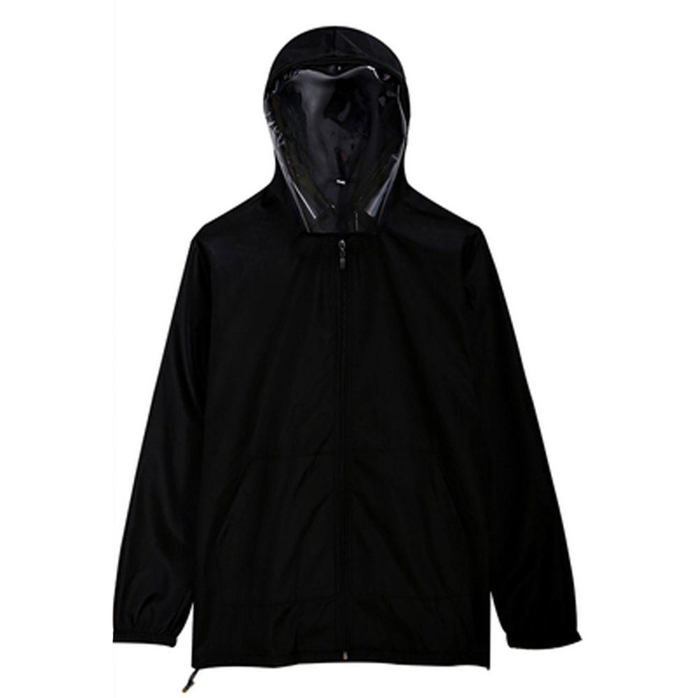 防飛沫連帽外套-一般款-黑色-(非醫療用品)