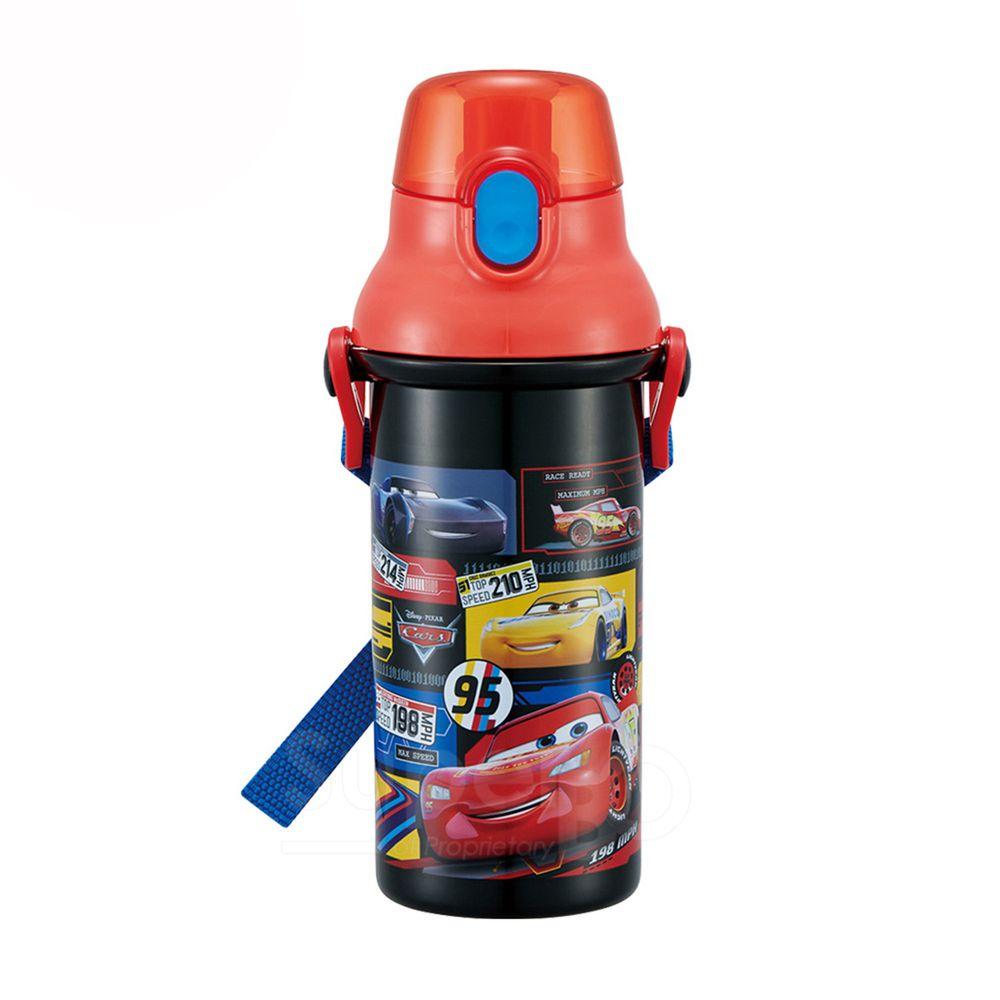 日本 SKATER - 兒童直飲冷水壺 (480ml)-閃電麥昆-紅黑