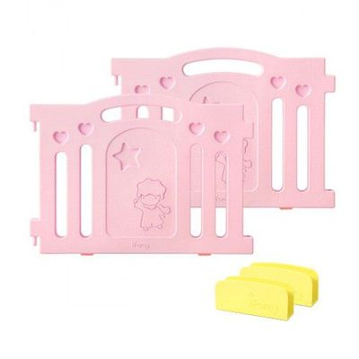 BaBy Room 圍欄延伸門片-粉紅色-附贈圍欄固定夾