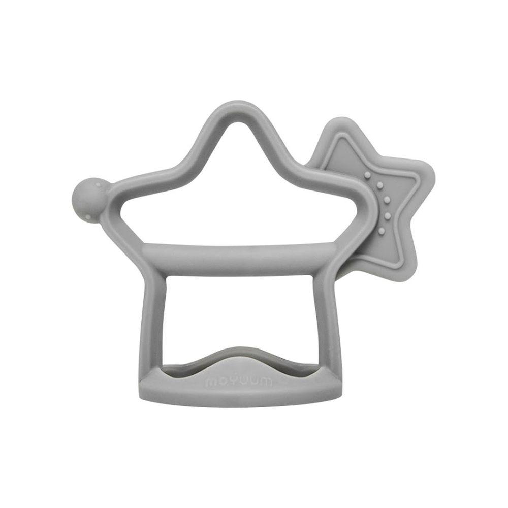 韓國 Moyuum - 白金矽膠手環固齒器-小星星-沉穩灰