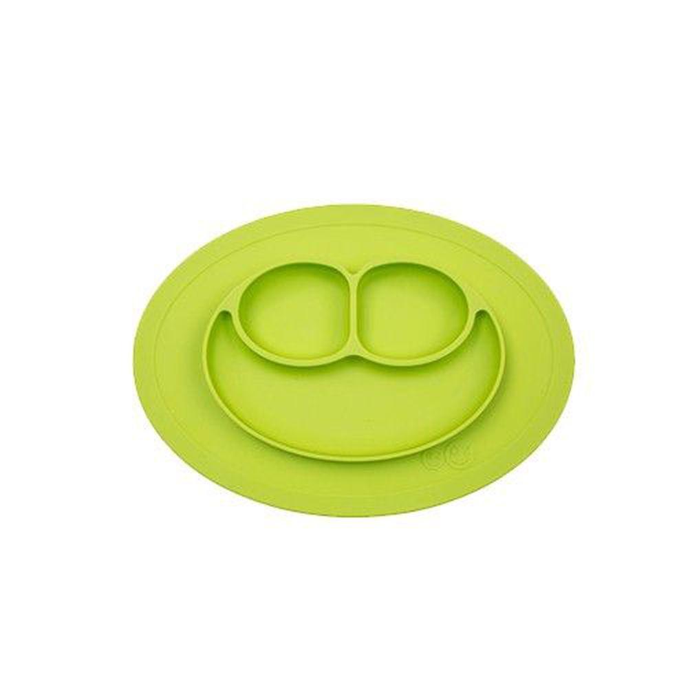 美國 ezpz - 快樂餐盤 Happy Mini Mat-迷你餐盤-蘋果綠 (27.3cm*19.7cm*2.54)-240ml