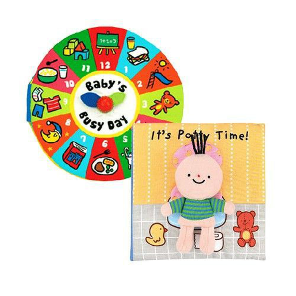 K's Kids - 布書兩入組-便便時間到囉+寶寶的一天