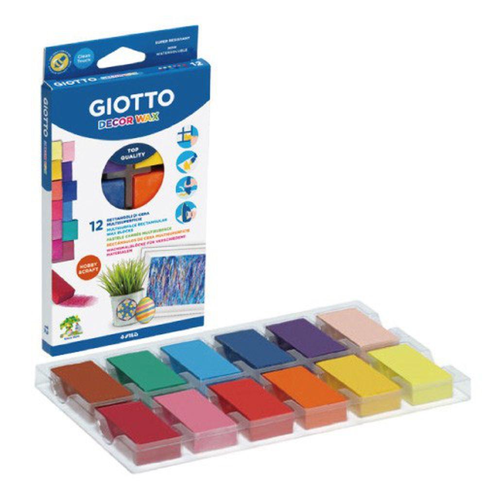 義大利GIOTTO - GIOTTO 兒童蜜蠟磚(12色)